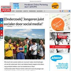 [Onderzoek] 'Jongeren juist socialer door social media!' - Nieuws.Social: Social Media Marketing: social business, onderzoek, cijfers, trends en meer