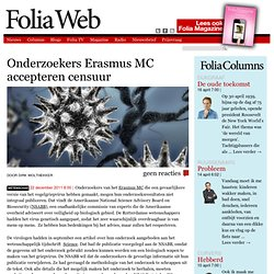 Onderzoekers Erasmus MC accepteren censuur