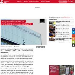 at5: 'Hoogleraar Förster van UvA manipuleerde onderzoeksgegevens'