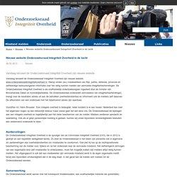 Nieuwe website Onderzoeksraad Integriteit Overheid in de lucht