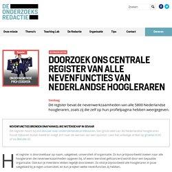 Doorzoek ons centrale register van alle nevenfuncties van Nederlandse hoogleraren - De Onderzoeksredactie