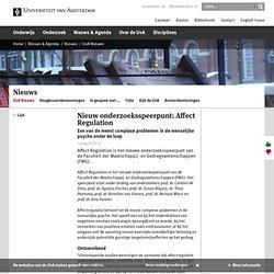 Nieuw onderzoeksspeerpunt: Affect Regulation