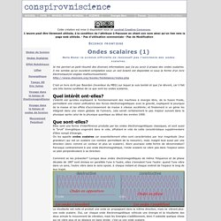 Ondes scalaires (1)