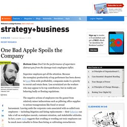 One Bad Apple Spoils the Company