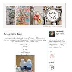 One Lucky Day: Collage Tissue Paper
