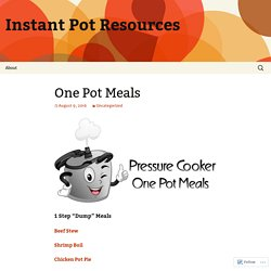 Instant Pot Resources