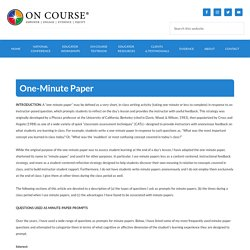 One-Minute Paper