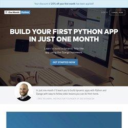 One Month Python