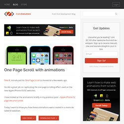 One Page Scroll with animations