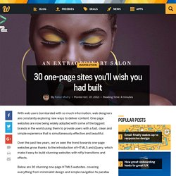 30 one-page sites you'll wish you had built