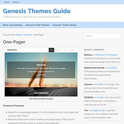 One-Pager – Genesis Themes Guide