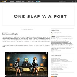One Slap // A post