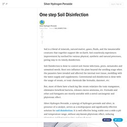 One step Soil Disinfection