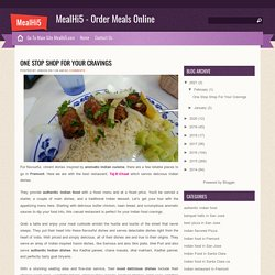 One Stop Shop For Your Cravings ~ MealHi5 - Order Meals Online