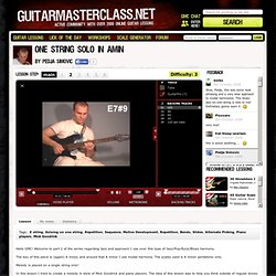 One String Solo in Amin Lesson