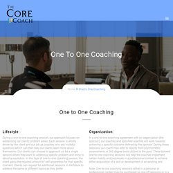 One to One Coaching
