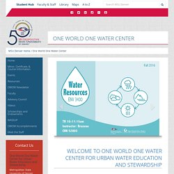 One World One Water Center
