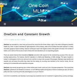 OneCoin And Constant Growth