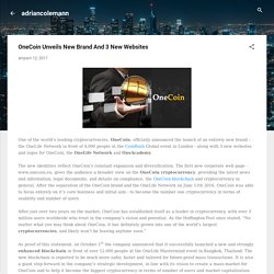 OneCoin Unveils New Brand And 3 New Websites