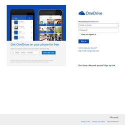 Microsoft OneDrive - Access files anywhere. Create docs with free Office Online.