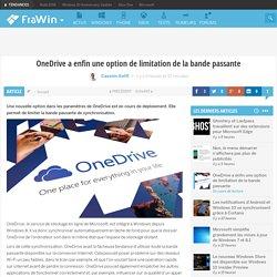 OneDrive a enfin une option de limitation de la bande passante