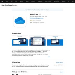 OneDrive on the MacAppStore