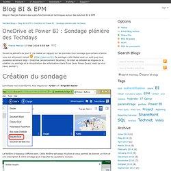 OneDrive et Power BI : Sondage plénière des Techdays - Blog BI & EPM