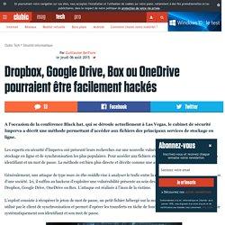 Dropbox, Google Drive, Box ou OneDrive pourraient être facilement hackés