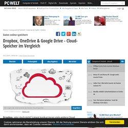 Dropbox, OneDrive & Google Drive - Cloud-Speicher im Vergleich