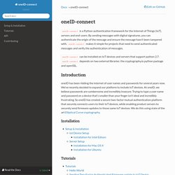 oneID-connect — oneID-connect 0.12.1 documentation