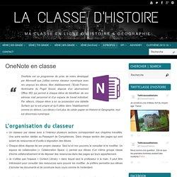OneNote en classe – La Classe d'Histoire