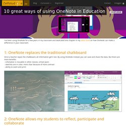 10 great ways of using OneNote in Education
