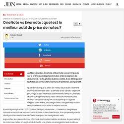 OneNote vs Evernote: quel est le meilleur outil de prise de notes?