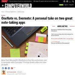 OneNote vs. Evernote: A personal take on two great note-taking apps