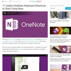 11 Useful OneNote Keyboard Shortcuts to Start Using Now