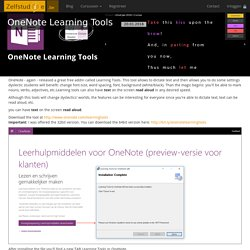 OneNote Learning Tools