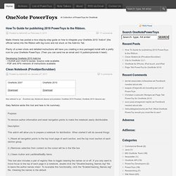 OneNote PowerToys