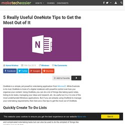 5 OneNote Tips to Get Most Out of It