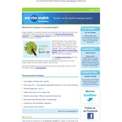 Onestopenglish Newsletter