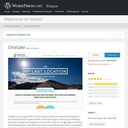 Répertoire de thèmes « Thèmes WordPress gratuits