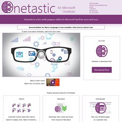 Onetastic for OneNote