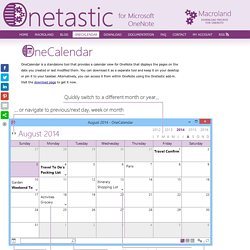 Onetastic for OneNote - OneCalendar