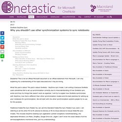 Onetastic for OneNote - OneNote SkyDrive Sync