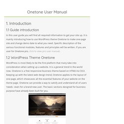 Onetone User Manual - MAGEEWP