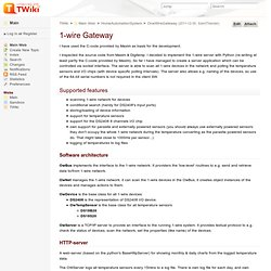 OneWireGateway < Main < TWiki
