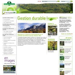 ONF: gestion durable, forêts