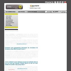 ONG Conseil France - FAQ