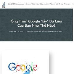 """Ông Trùm Google """"lấy"""" Dữ Liệu Của Bạn Như Thế Nào? - FOOGLESEO"""
