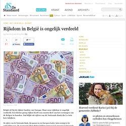 Rijkdom in België is ongelijk verdeeld