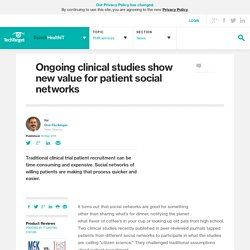 Ongoing clinical studies show new value for patient social networks